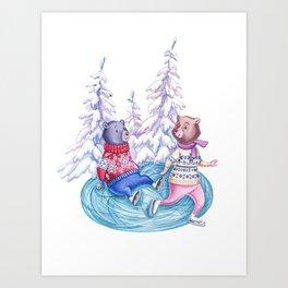 Clumsy Bear Art Print