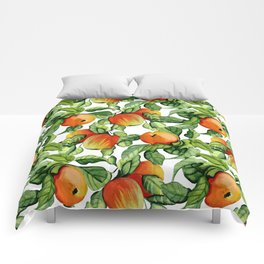 Ripe apples Comforters