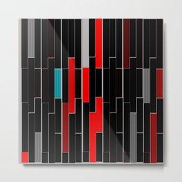 Black&Red Metal Print