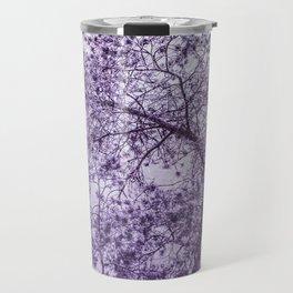 Beautiful Pine Tree Silhouette Purple Color #decor #society6 #buyart Travel Mug