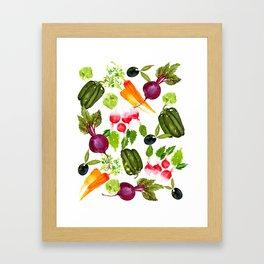 Mixed Vegetables Framed Art Print
