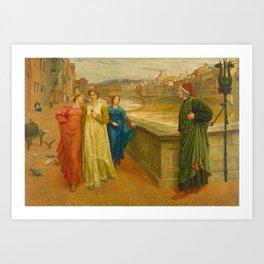 Henry Holiday - Dante And Beatrice Kunstdrucke