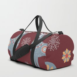 Nordic Winter Red Duffle Bag
