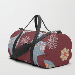 Nordic Winter Red Duffle Bag