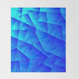 Bright sea pattern of heavenly and blue triangles and irregularly shaped lines. Throw Blanket