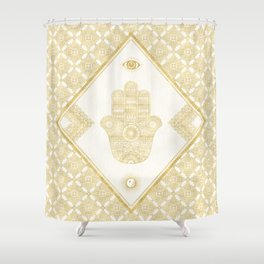 A Blessing (Gold) Shower Curtain