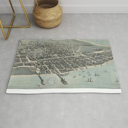 Vintage Pictorial Map of Corpus Christi TX (1887) Rug