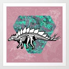 Stegosaur Fossil Art Print