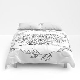 """She was beautiful"" quote from F. Scott Fitzgerald Comforters"