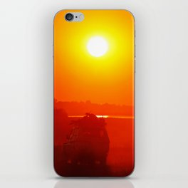 Driving into the sunset, Africa wildlife iPhone Skin