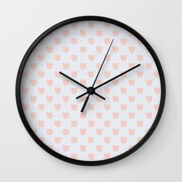 Pink Flowers - English Meadow Collection Wall Clock