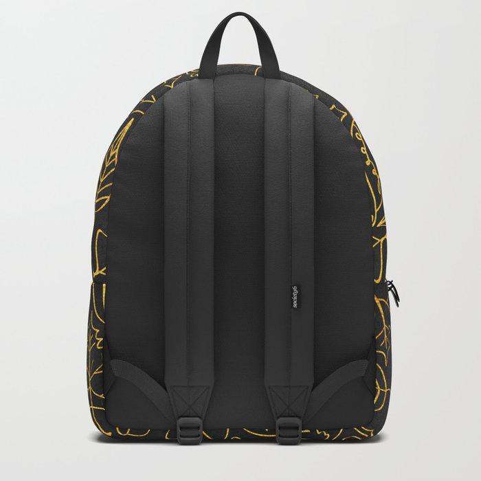 AUTUMN 1 - gold leaves on chalkboard background Backpack