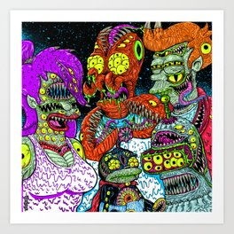 Future Monsters Art Print
