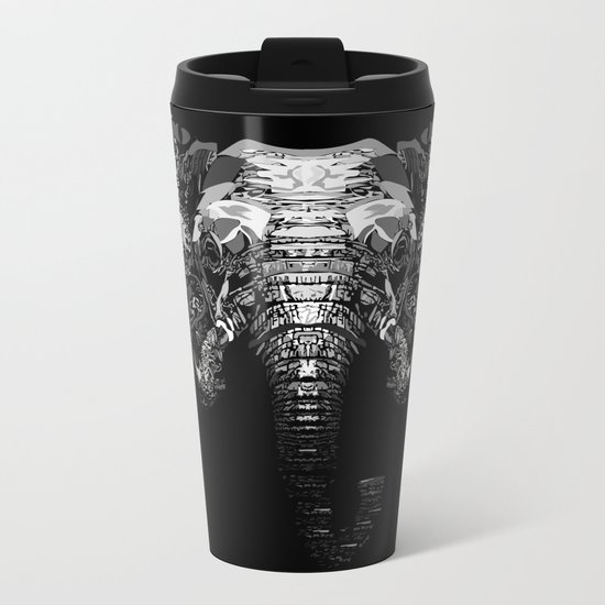 Elephant Metal Travel Mug