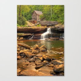 Glade Creek Grist Mill - Layland West Virginia Canvas Print