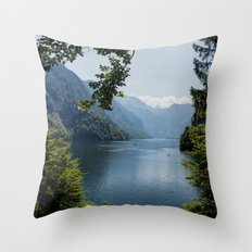 Germany, Malerblick, Mountains - Alps Koenigssee Lake Throw Pillow