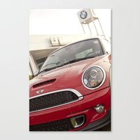 mini Canvas Prints featuring Mini by SShaw Photographic
