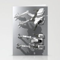 robots Stationery Cards featuring Robots by Carlo Toffolo