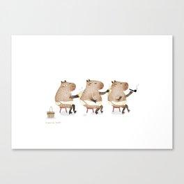 Spa Capybara Canvas Print