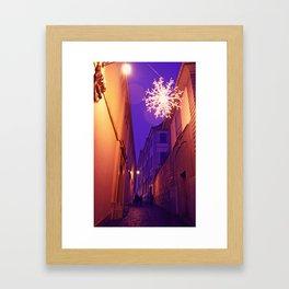 Christmas time in Basel Swiss Framed Art Print