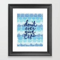 Fight the Blues Framed Art Print