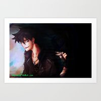 percy jackson Art Prints featuring Son of Hades Percy Jackson by TreyCain03