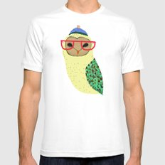 I Love Owls Mens Fitted Tee MEDIUM White