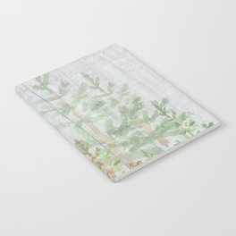 Pine forest on weathered wood Notebook