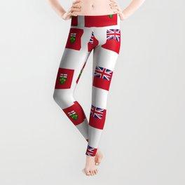 Flag of ontario -ontarian,ontarien,toronto,ottawa,heartland,huron,hamilton. Leggings