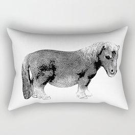 The Ever-So-Cute Pony Rectangular Pillow