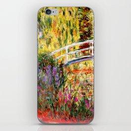 "Claude Monet ""Water lily pond, water irises"" iPhone Skin"