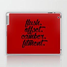 flush offset camber fitment v3 HQvector Laptop & iPad Skin