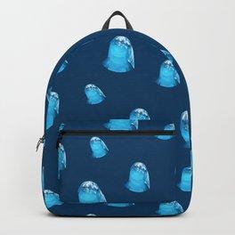 Cute Dolphin Marine Animal in Blue Sea Backpack