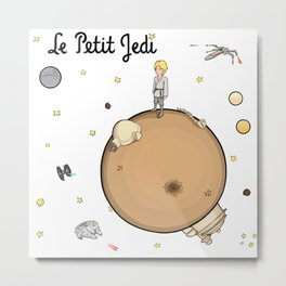 Le Petit Jedi Metal Print