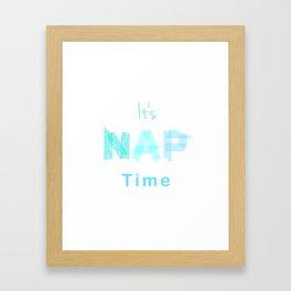 It's nap time Framed Art Print