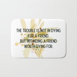 Finding a friend - Mark Twain Collection Bath Mat