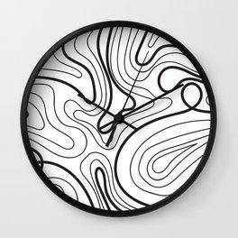 Simple waves, wavy design Wall Clock