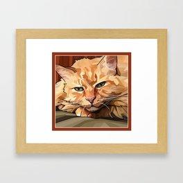 Louie Cat Framed Art Print