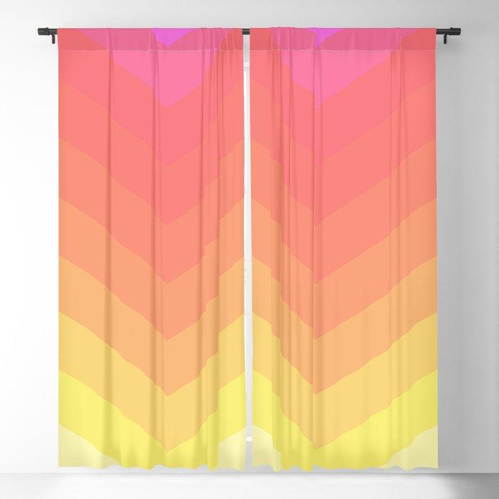 Colorful chevron pattern Blackout Curtain