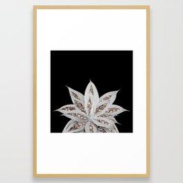 Gray Agave with Rose Gold Glitter #2 #shiny #tropical #decor #art #society6 Framed Art Print
