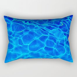 Blue Water Abstract Rectangular Pillow