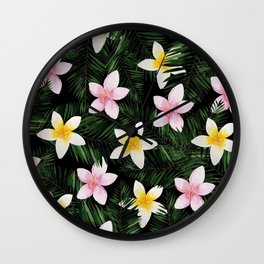 Leave Me Aloha in Black Wall Clock