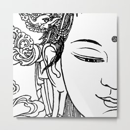 Hi Buddha Metal Print