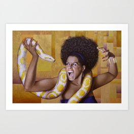 The Argument Between Eve and the Snake Art Print