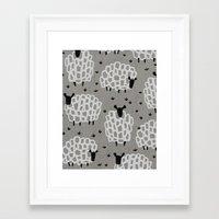 sheep Framed Art Prints featuring sheep by frameless