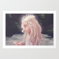 Girl by the River Art Print
