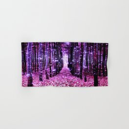 Magical Forest Pink & Purple Hand & Bath Towel