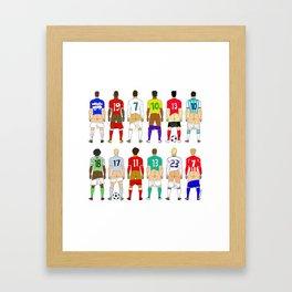 Soccer Butts Framed Art Print
