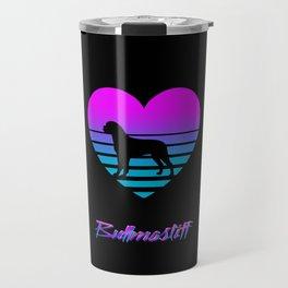 Bullmastiff Love Cyberpunk Vaporwave Dog Puppy Gift Travel Mug