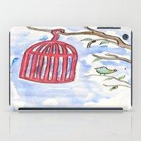 cage iPad Cases featuring Bird + Cage by  Lèña